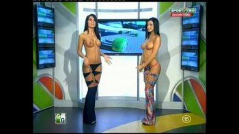الهرات شقراء على شاشة التلفزيون على Sport.com
